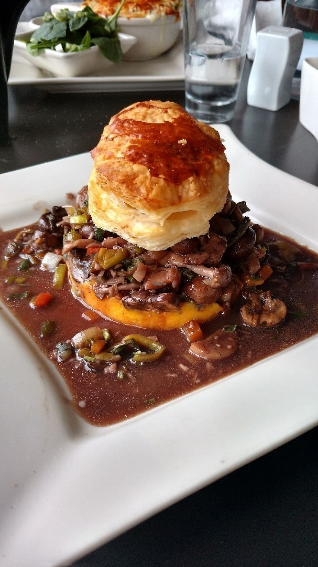 """Photo of The Hummingbird Cafe  by <a href=""""/members/profile/chrisvobe"""">chrisvobe</a> <br/>Mushroom """"Pot pie"""" over mashed potatoes.  <br/> March 19, 2017  - <a href='/contact/abuse/image/14944/238182'>Report</a>"""