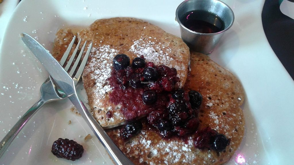 """Photo of The Hummingbird Cafe  by <a href=""""/members/profile/J%20and%20J"""">J and J</a> <br/>Vegan pancakes with the works!!! <br/> September 8, 2017  - <a href='/contact/abuse/image/14944/302020'>Report</a>"""