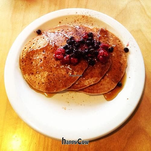 """Photo of The Hummingbird Cafe  by <a href=""""/members/profile/vegetariangirl"""">vegetariangirl</a> <br/>vegan pancakes <br/> October 19, 2012  - <a href='/contact/abuse/image/14944/39252'>Report</a>"""