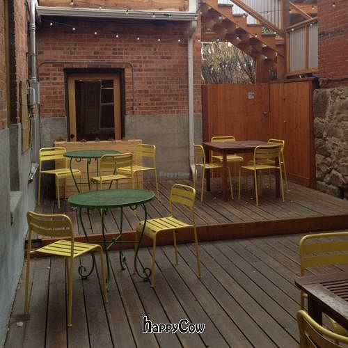 """Photo of The Hummingbird Cafe  by <a href=""""/members/profile/vegetariangirl"""">vegetariangirl</a> <br/>patio <br/> October 20, 2012  - <a href='/contact/abuse/image/14944/39292'>Report</a>"""