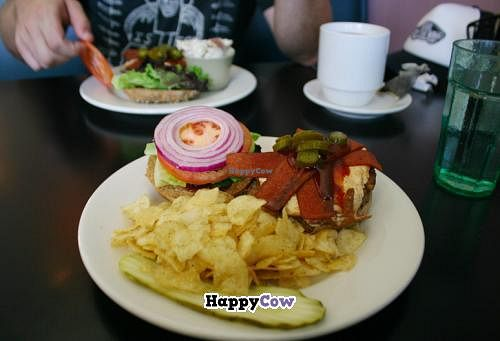 "Photo of Palm Greens Cafe  by <a href=""/members/profile/Raesock"">Raesock</a> <br/>Vegan Haystack Sandwich <br/> September 11, 2013  - <a href='/contact/abuse/image/15008/54788'>Report</a>"