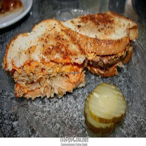 "Photo of Palm Greens Cafe  by <a href=""/members/profile/spiceislandvegan"">spiceislandvegan</a> <br/>Vegan Tempeh Reuben sandwich (with vegan cheese) <br/> August 15, 2010  - <a href='/contact/abuse/image/15008/5545'>Report</a>"
