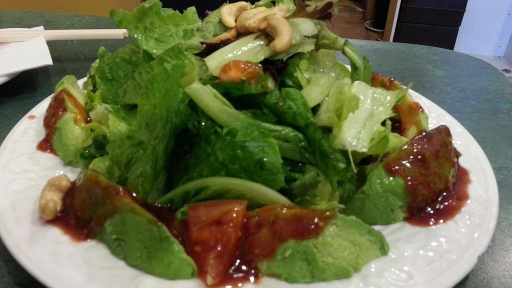 """Photo of CLOSED: Spicy Vegetarian Cuisine  by <a href=""""/members/profile/eric"""">eric</a> <br/>'protein' salad option <br/> August 10, 2014  - <a href='/contact/abuse/image/15112/76549'>Report</a>"""