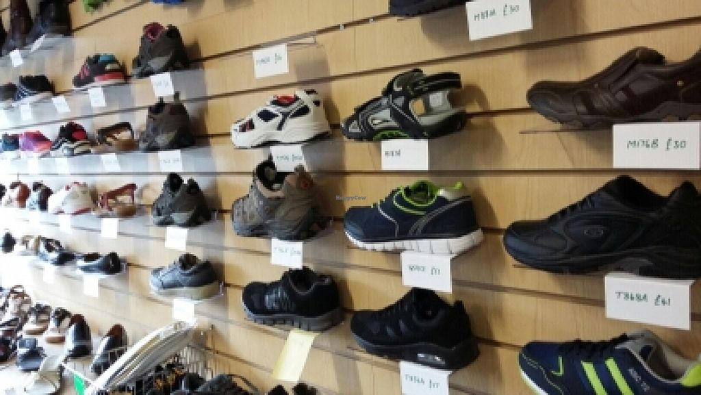 """Photo of Alternative Stores  by <a href=""""/members/profile/newcastlevegan"""">newcastlevegan</a> <br/>loads of Vegan shoes <br/> July 2, 2016  - <a href='/contact/abuse/image/15169/157331'>Report</a>"""