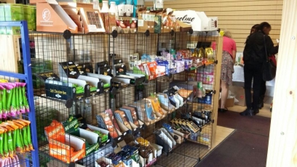 """Photo of Alternative Stores  by <a href=""""/members/profile/newcastlevegan"""">newcastlevegan</a> <br/>loads of chocolate  <br/> July 2, 2016  - <a href='/contact/abuse/image/15169/157335'>Report</a>"""