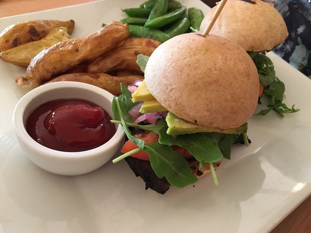 "Photo of Ravens' Restaurant  by <a href=""/members/profile/Lcountertop"">Lcountertop</a> <br/>Portobello sliders. You get two, so plan your appetizers accordingly!  This was a dinner entree the week we were there. Omnivore husband loved! <br/> August 31, 2016  - <a href='/contact/abuse/image/1521/172545'>Report</a>"
