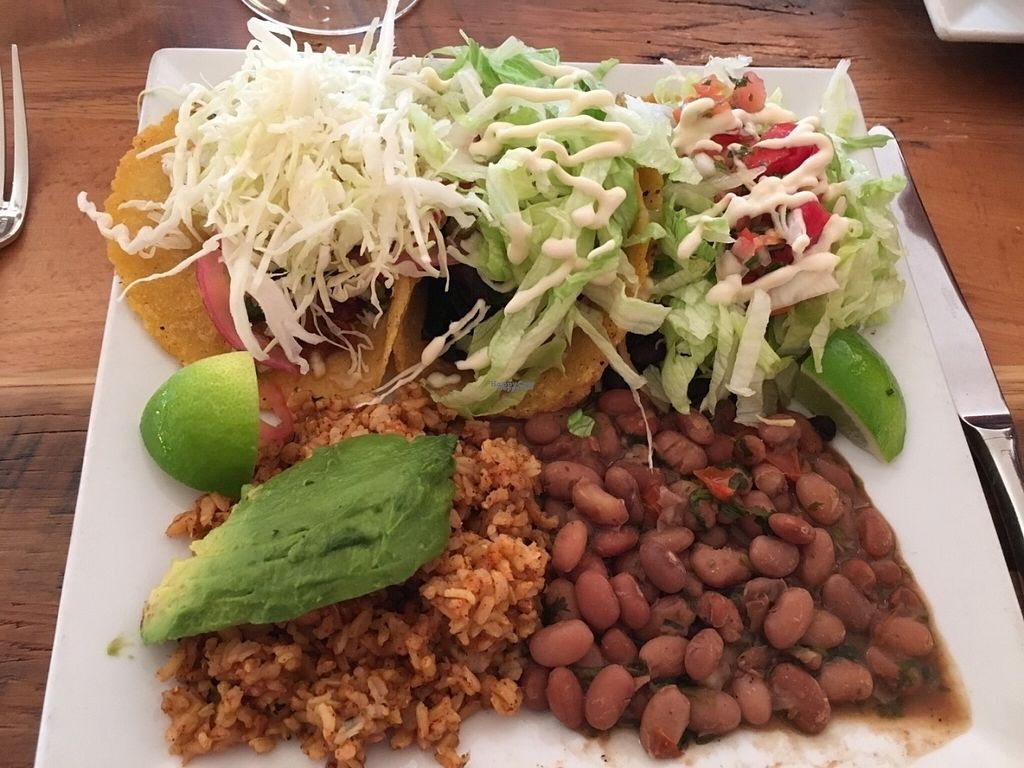 "Photo of Ravens' Restaurant  by <a href=""/members/profile/Lcountertop"">Lcountertop</a> <br/>Triple tacos with pinto beans and aceite rice. A lot of food! All fresh and organic <br/> August 31, 2016  - <a href='/contact/abuse/image/1521/172549'>Report</a>"