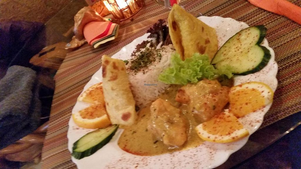 """Photo of Kashmir  by <a href=""""/members/profile/helsinkigoesvegan"""">helsinkigoesvegan</a> <br/>Rice with deep fried cauliflower <br/> November 21, 2014  - <a href='/contact/abuse/image/15221/86140'>Report</a>"""