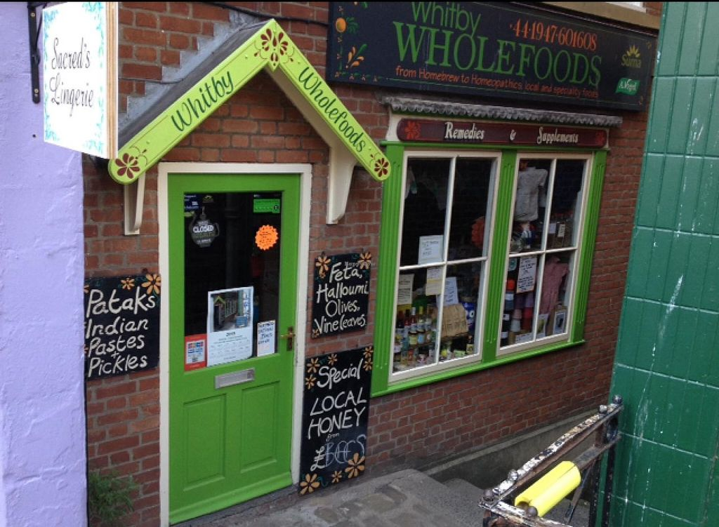 """Photo of Whitby Wholefoods  by <a href=""""/members/profile/hack_man"""">hack_man</a> <br/>outside  <br/> July 12, 2015  - <a href='/contact/abuse/image/15238/109060'>Report</a>"""