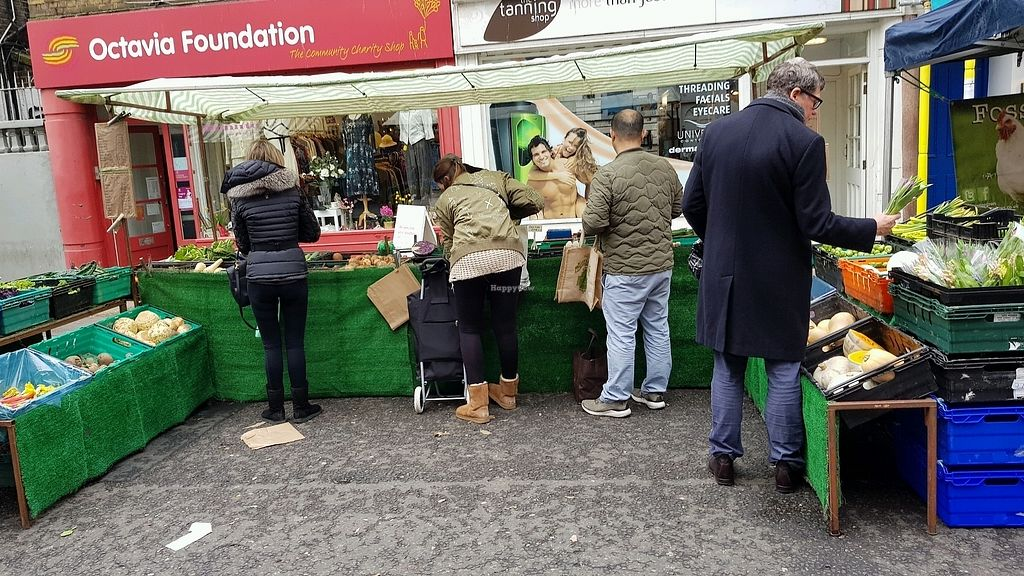 """Photo of Farmer's Market - South Kensington  by <a href=""""/members/profile/jollypig"""">jollypig</a> <br/>A grocer <br/> March 24, 2018  - <a href='/contact/abuse/image/15249/375387'>Report</a>"""