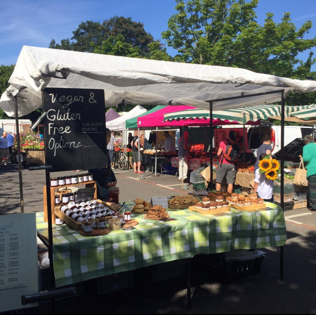 "Photo of Farmers Market - Twickenham  by <a href=""/members/profile/Jrosworld"">Jrosworld</a> <br/>Muffins and flapjacks including 'vegan and gluten free options' <br/> July 18, 2015  - <a href='/contact/abuse/image/15250/109743'>Report</a>"