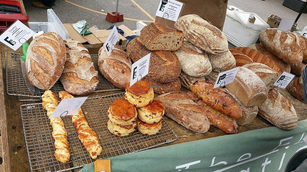 "Photo of Farmers Market - Wimbledon Park  by <a href=""/members/profile/jollypig"">jollypig</a> <br/>It looks like bread to me <br/> April 29, 2017  - <a href='/contact/abuse/image/15252/253719'>Report</a>"