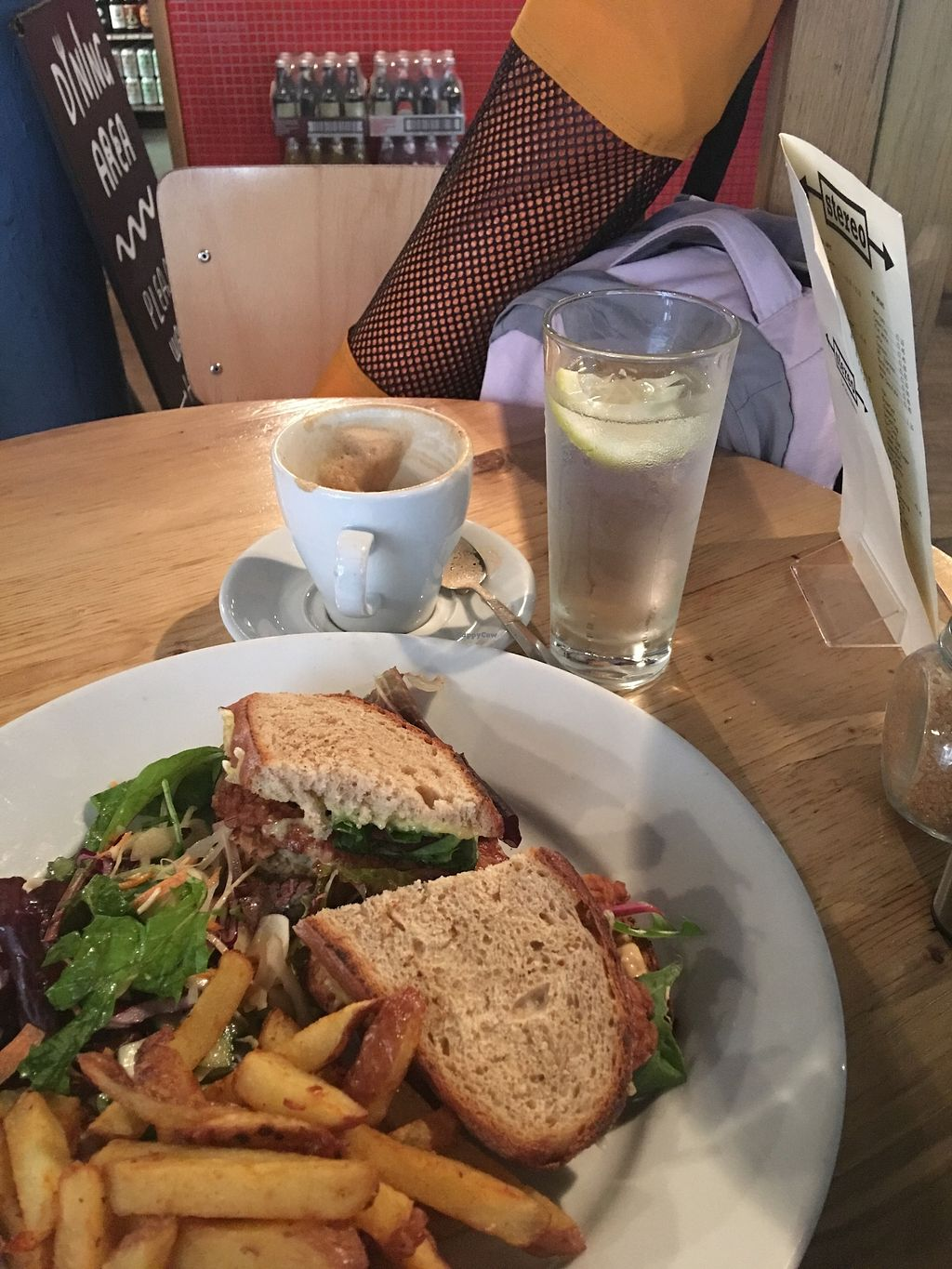"""Photo of Stereo  by <a href=""""/members/profile/HighlandBuddha"""">HighlandBuddha</a> <br/>Tempeh Reuben sandwich and soya flat white  <br/> July 18, 2017  - <a href='/contact/abuse/image/15285/281684'>Report</a>"""