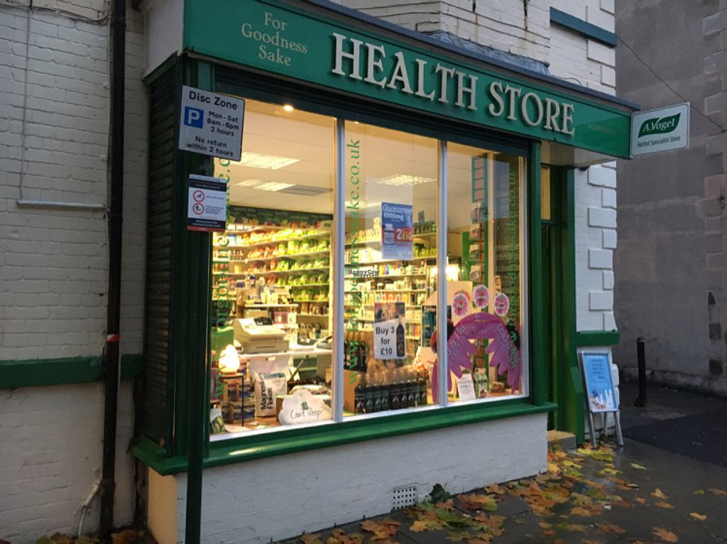 """Photo of For Goodness Sake Health Store  by <a href=""""/members/profile/hack_man"""">hack_man</a> <br/>outside  <br/> November 5, 2016  - <a href='/contact/abuse/image/15286/186669'>Report</a>"""
