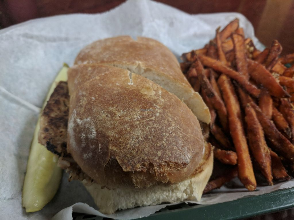 """Photo of Dogtown  by <a href=""""/members/profile/lizardlucas"""">lizardlucas</a> <br/>One of their thursday specials. Black bean burger with sweet potato fries.  <br/> March 28, 2018  - <a href='/contact/abuse/image/15338/377434'>Report</a>"""