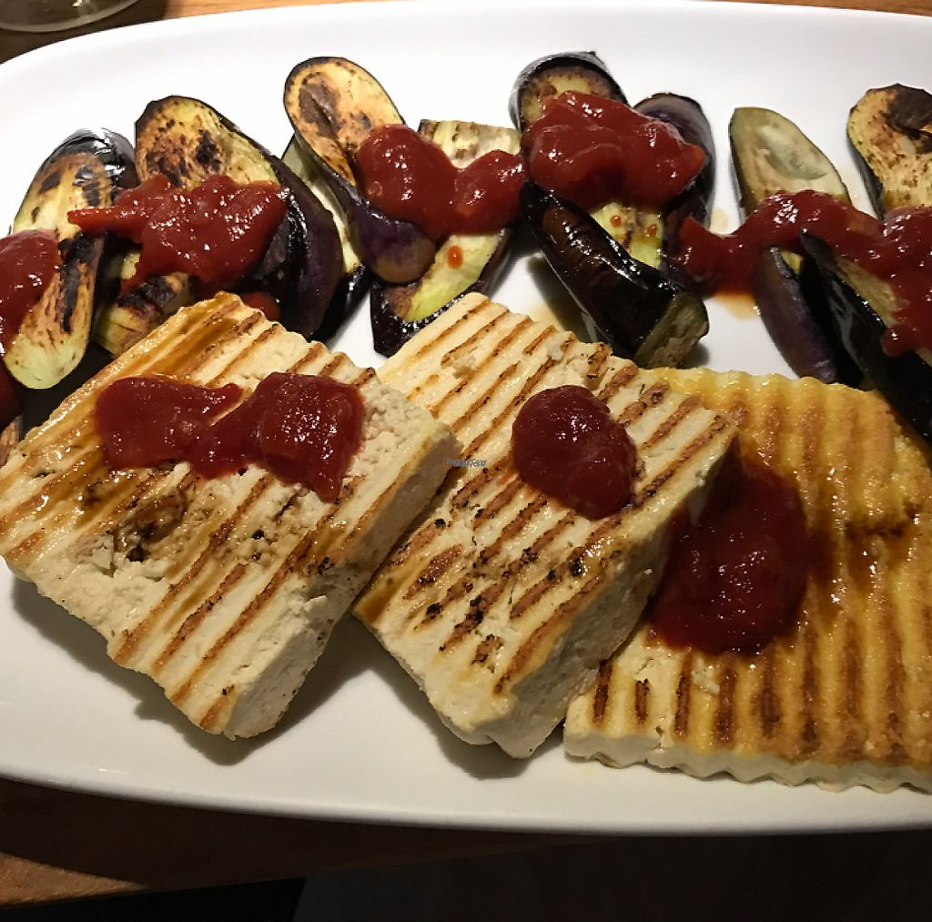 """Photo of CLOSED: Lotus Cafe  by <a href=""""/members/profile/Sarah%20P"""">Sarah P</a> <br/>tofu eggplant with tomato sauce <br/> December 27, 2016  - <a href='/contact/abuse/image/15352/205365'>Report</a>"""