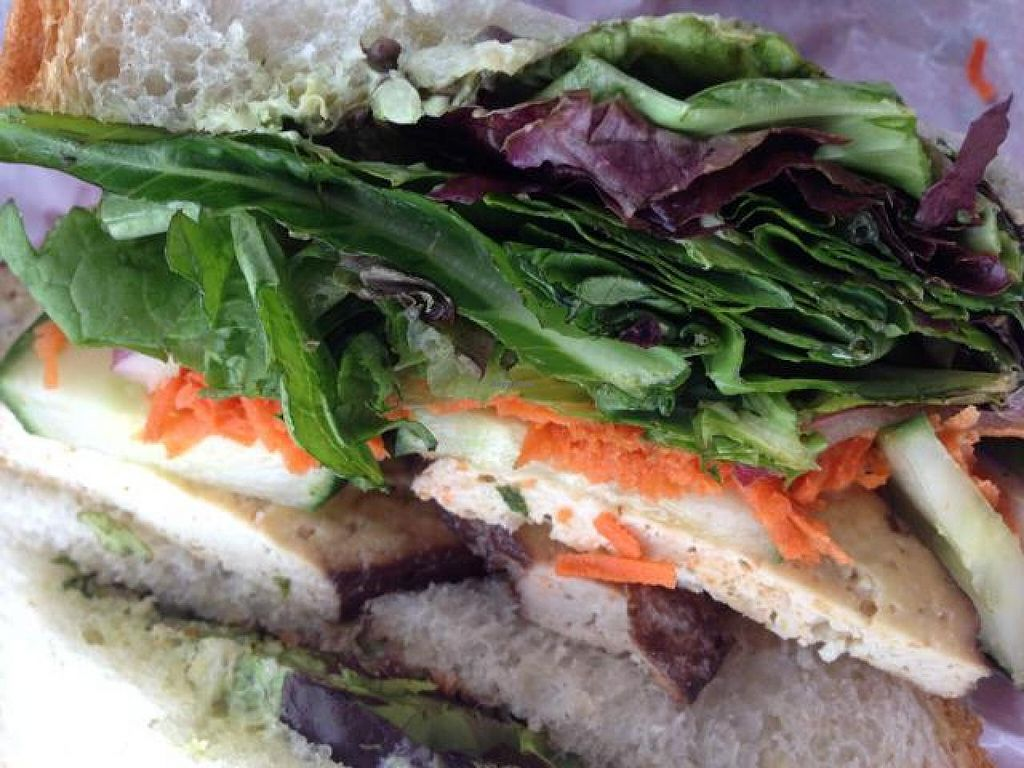 """Photo of Morning Glory Bakery  by <a href=""""/members/profile/VeganityFlair"""">VeganityFlair</a> <br/>My tasty vegan sandwich <br/> July 27, 2014  - <a href='/contact/abuse/image/15379/75234'>Report</a>"""