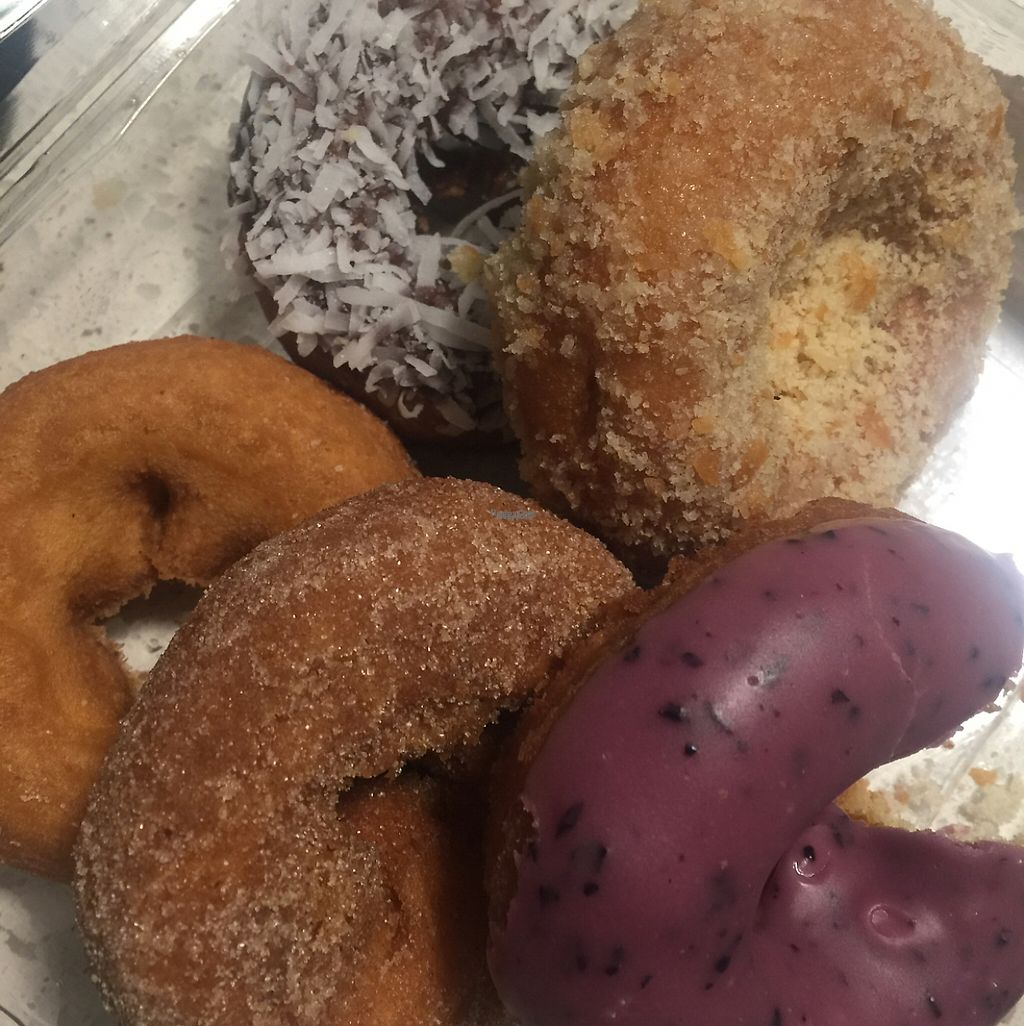 """Photo of Whole Foods Market  by <a href=""""/members/profile/VegAnne_Ca"""">VegAnne_Ca</a> <br/>vegan donut pack @ bakery  <br/> March 5, 2017  - <a href='/contact/abuse/image/1538/232786'>Report</a>"""