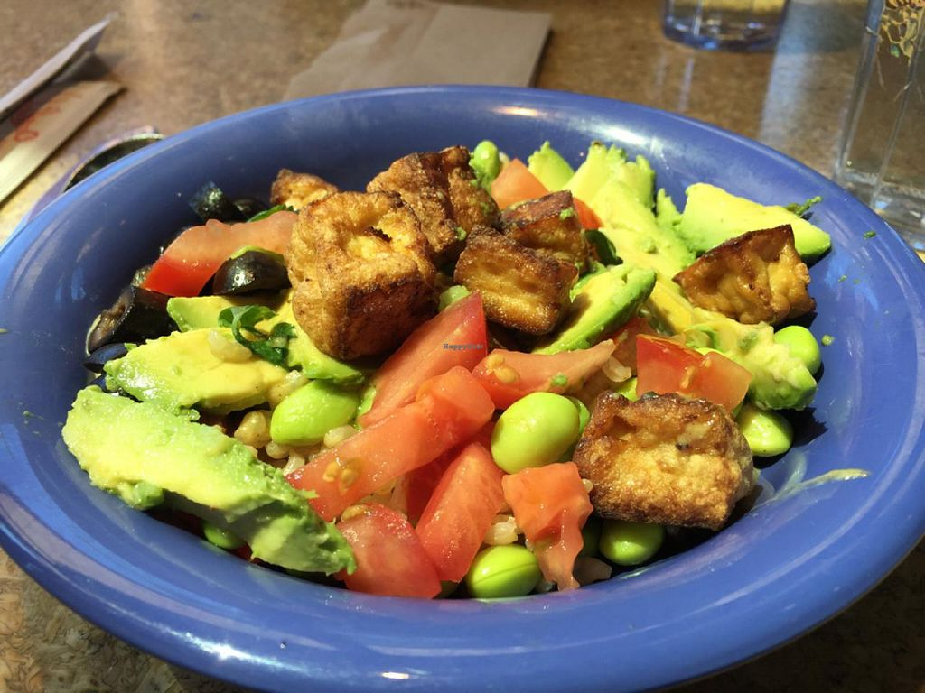 """Photo of Cafe Yumm  by <a href=""""/members/profile/Popster"""">Popster</a> <br/>original bowl with tofu <br/> June 6, 2015  - <a href='/contact/abuse/image/15418/104965'>Report</a>"""