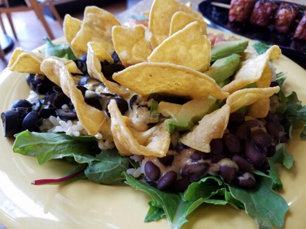 """Photo of Cafe Yumm  by <a href=""""/members/profile/EverydayTastiness"""">EverydayTastiness</a> <br/>yumm and greens <br/> June 10, 2016  - <a href='/contact/abuse/image/15418/153322'>Report</a>"""