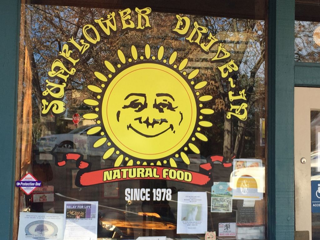 "Photo of Sunflower Natural Food Restaurant  by <a href=""/members/profile/ClemAvilaisvegan"">ClemAvilaisvegan</a> <br/>Window Display  <br/> December 18, 2015  - <a href='/contact/abuse/image/1541/128933'>Report</a>"