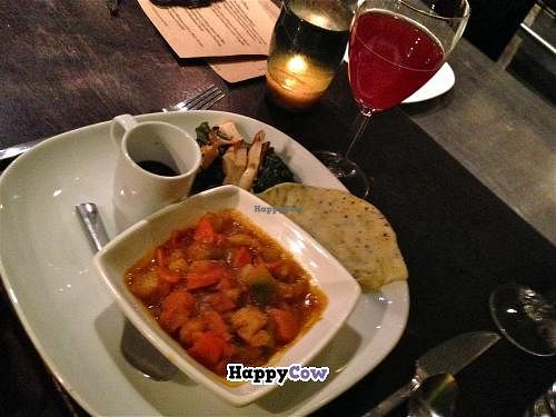 """Photo of CLOSED: Sutra  by <a href=""""/members/profile/blisssu"""">blisssu</a> <br/>Marina d'Chioggia Squash-Chantennay Carrot-Celery Root-Ber Ber Ragout with Nigella Dosa, Evergreen Huckleberry-Urfa Biber Chutney, Grilled Abalone Mushrooms and Steamed Kale <br/> October 20, 2013  - <a href='/contact/abuse/image/15427/56979'>Report</a>"""