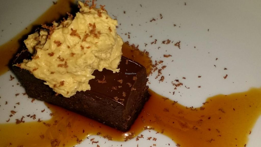 """Photo of CLOSED: Sutra  by <a href=""""/members/profile/The%20Hungry%20Vegan"""">The Hungry Vegan</a> <br/>Fig cake with cacao nibs <br/> December 21, 2014  - <a href='/contact/abuse/image/15427/88450'>Report</a>"""