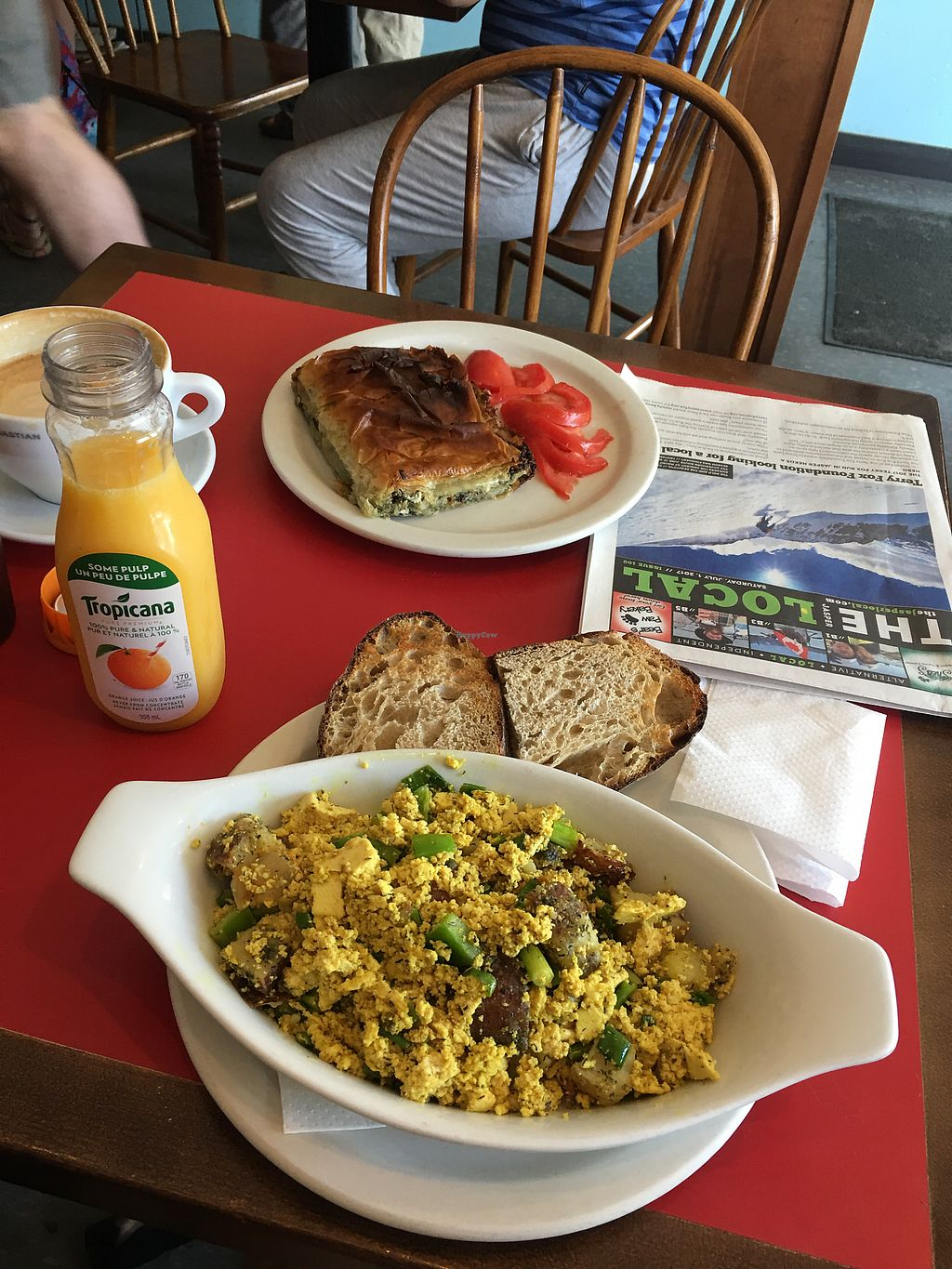 """Photo of Coco's Cafe  by <a href=""""/members/profile/veganismrevolution"""">veganismrevolution</a> <br/>backpacker skillet for me.  <br/> July 8, 2017  - <a href='/contact/abuse/image/15433/277766'>Report</a>"""