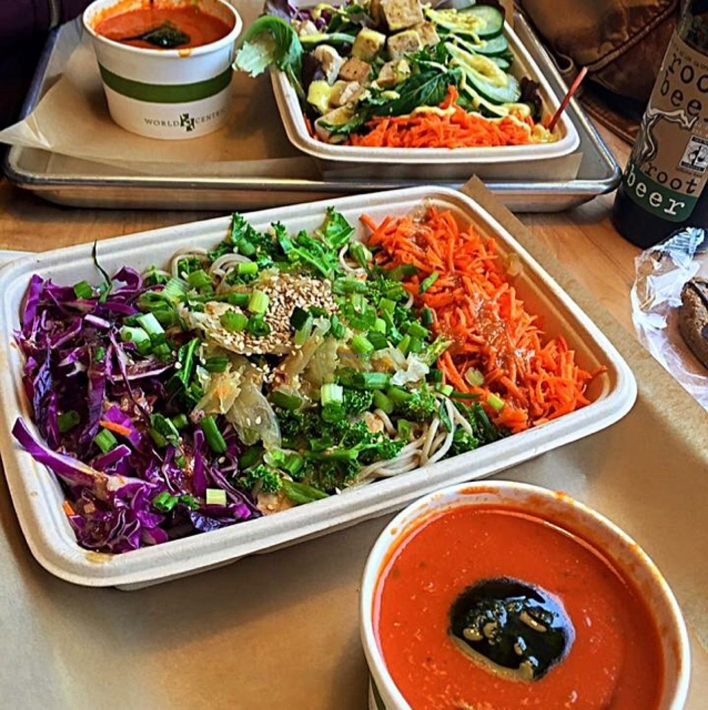 """Photo of Roots Natural Foods  by <a href=""""/members/profile/HippieJilly"""">HippieJilly</a> <br/>Soba Noodle Bowl, Root Veggie Bisque (All Vegan) <br/> April 23, 2016  - <a href='/contact/abuse/image/15443/145867'>Report</a>"""