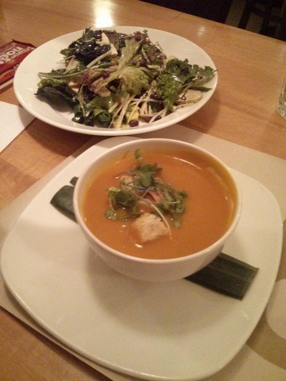"Photo of Wok - Zona T  by <a href=""/members/profile/VeggieNextDoor"">VeggieNextDoor</a> <br/>miso pumpkin soup & kale salad <br/> December 30, 2013  - <a href='/contact/abuse/image/15452/61319'>Report</a>"
