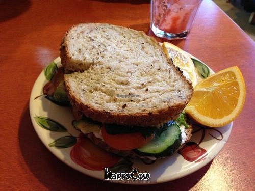 "Photo of Alpine Bakery  by <a href=""/members/profile/AlaskanVegan"">AlaskanVegan</a> <br/>Avacado, kale, homemade hummus, homemade bread sandwich...so good! <br/> March 23, 2013  - <a href='/contact/abuse/image/15475/45927'>Report</a>"