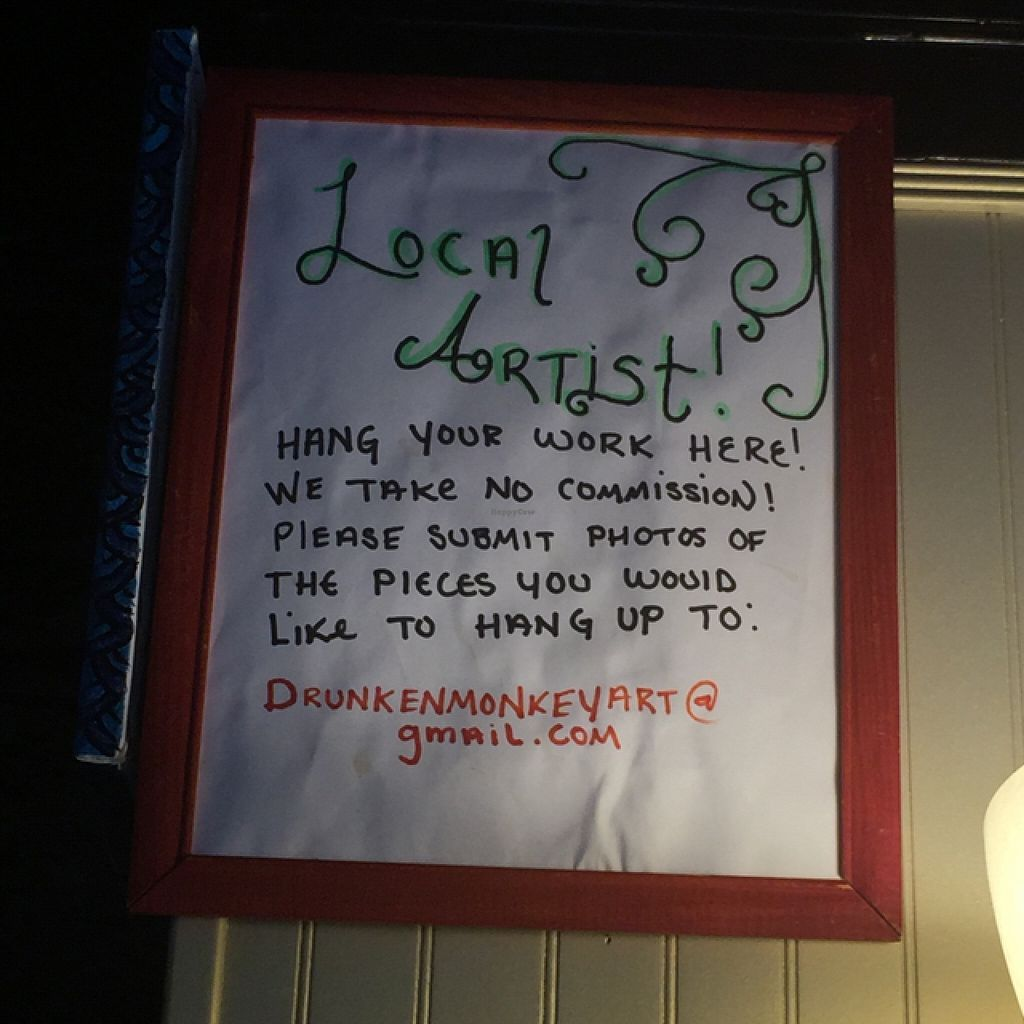 """Photo of Drunken Monkey Coffee Bar  by <a href=""""/members/profile/happycowgirl"""">happycowgirl</a> <br/>local artwork for sale here <br/> September 6, 2015  - <a href='/contact/abuse/image/15477/116594'>Report</a>"""