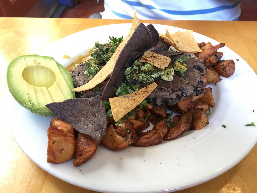"Photo of Sunny Point Cafe  by <a href=""/members/profile/AimeeS"">AimeeS</a> <br/>Huevos Rancheros, veganized <br/> July 2, 2017  - <a href='/contact/abuse/image/15499/276095'>Report</a>"