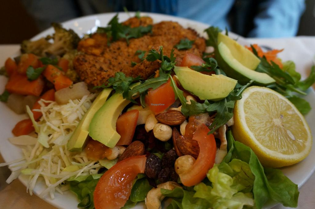 """Photo of Le Puits de Legumes  by <a href=""""/members/profile/Ricardo"""">Ricardo</a> <br/>Plate of the chef (vegan) <br/> January 31, 2015  - <a href='/contact/abuse/image/15504/91839'>Report</a>"""