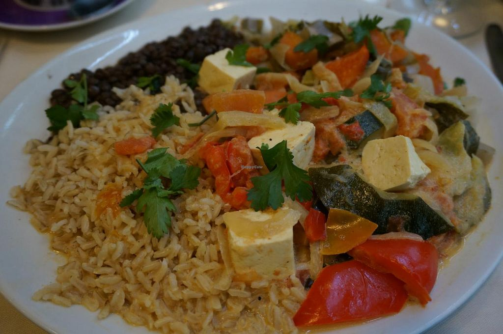 """Photo of Le Puits de Legumes  by <a href=""""/members/profile/Ricardo"""">Ricardo</a> <br/>Plate of the day - curry with tofu (vegan) <br/> January 31, 2015  - <a href='/contact/abuse/image/15504/91841'>Report</a>"""