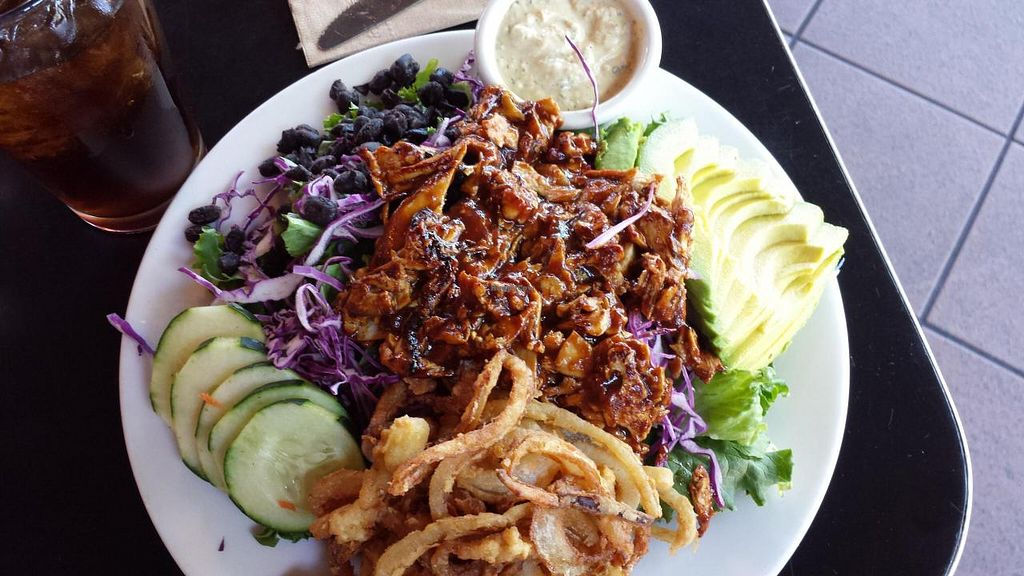 """Photo of Saturn Cafe  by <a href=""""/members/profile/Lisa"""">Lisa</a> <br/>Barbecue Ranch Chicken Salad, drool <br/> July 4, 2014  - <a href='/contact/abuse/image/1550/73214'>Report</a>"""
