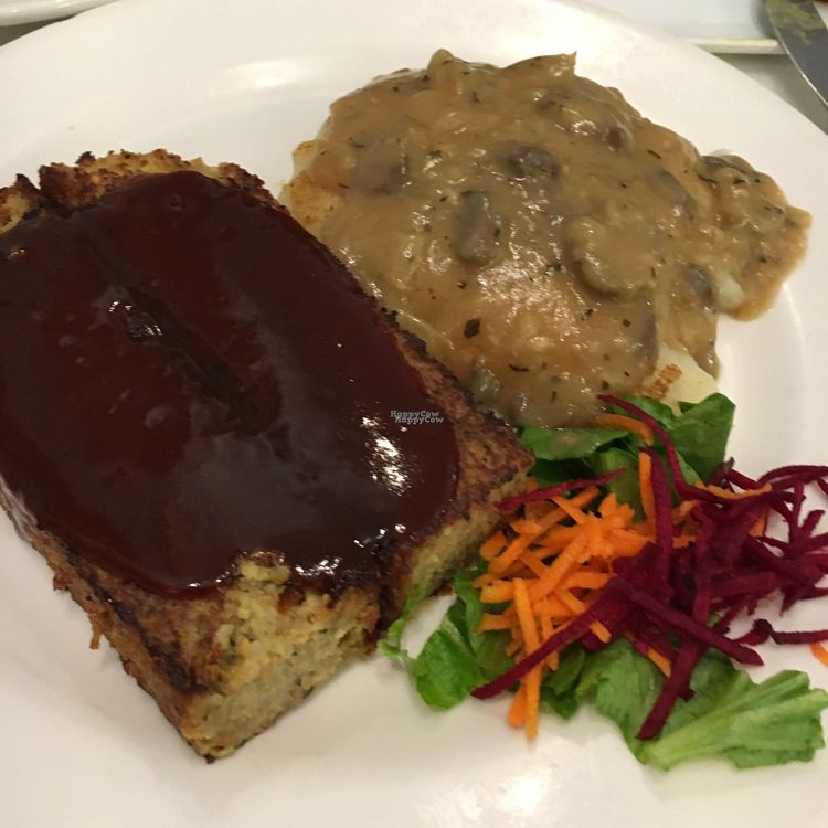 """Photo of Ananda Fuara  by <a href=""""/members/profile/CatLovesBeets"""">CatLovesBeets</a> <br/>Neatloaf- house specialty. this is the vegetarian version but vegan is available. tasty and hearty <br/> September 18, 2016  - <a href='/contact/abuse/image/1555/176463'>Report</a>"""