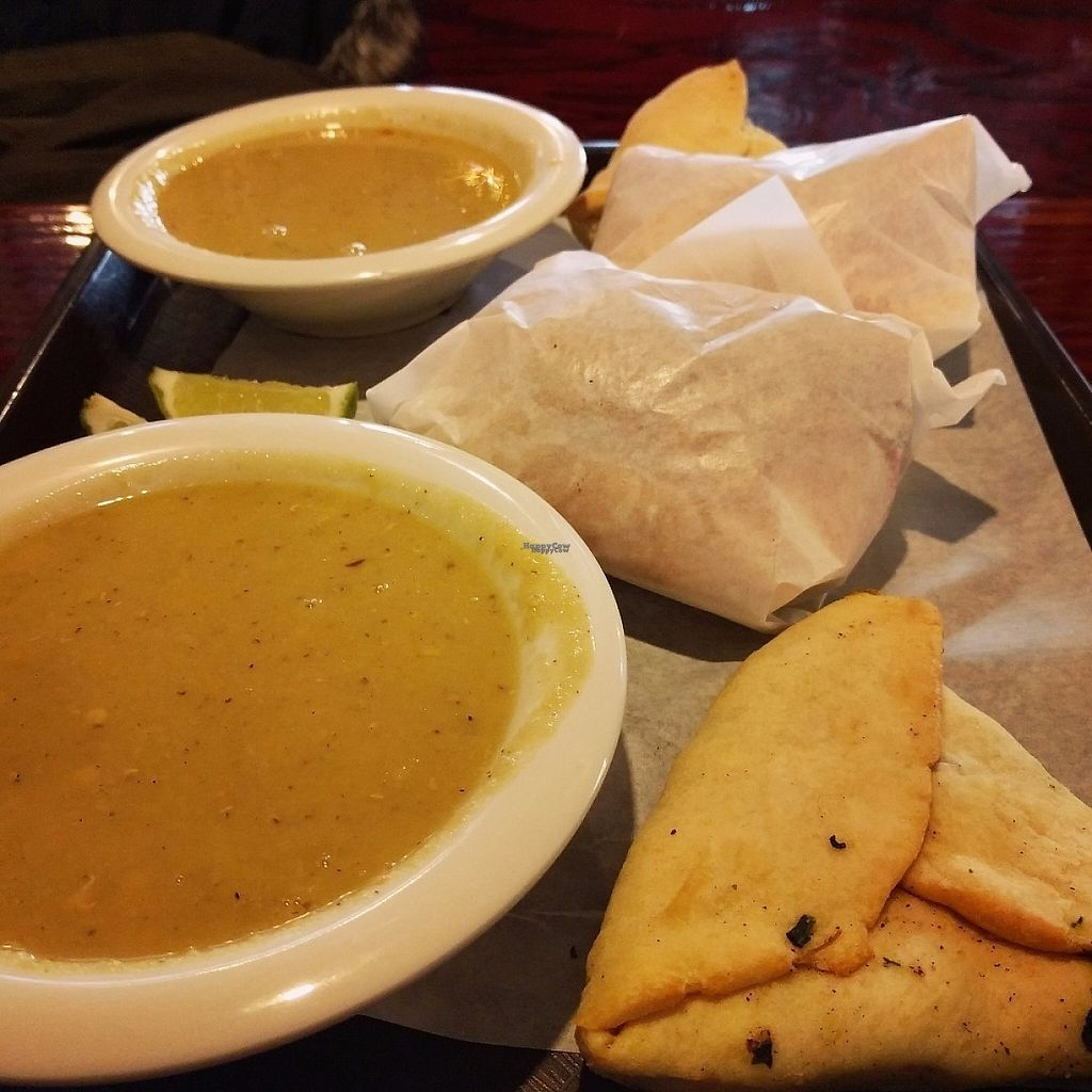 "Photo of Sultan's Market - Wicker Park  by <a href=""/members/profile/makemenervous"">makemenervous</a> <br/>Lentil soup, spinach pie, and falafel sandwiches.  <br/> March 18, 2017  - <a href='/contact/abuse/image/15571/238032'>Report</a>"