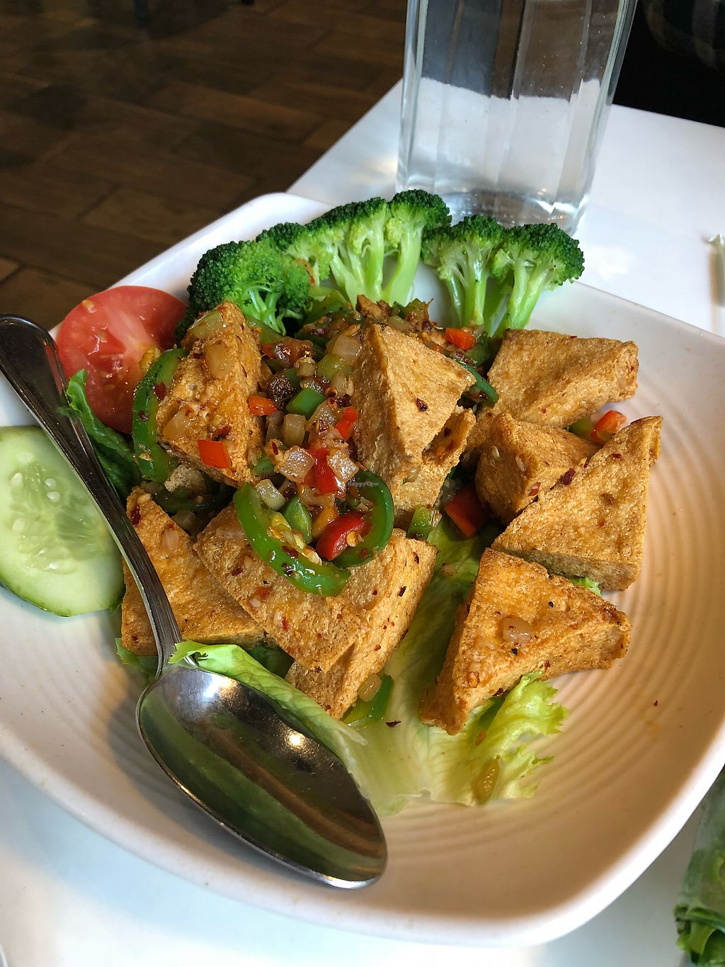 """Photo of Golden Era Vegan Restaurant  by <a href=""""/members/profile/KaitlynnGill"""">KaitlynnGill</a> <br/>Jalapeño tofu <br/> December 31, 2017  - <a href='/contact/abuse/image/1557/341402'>Report</a>"""