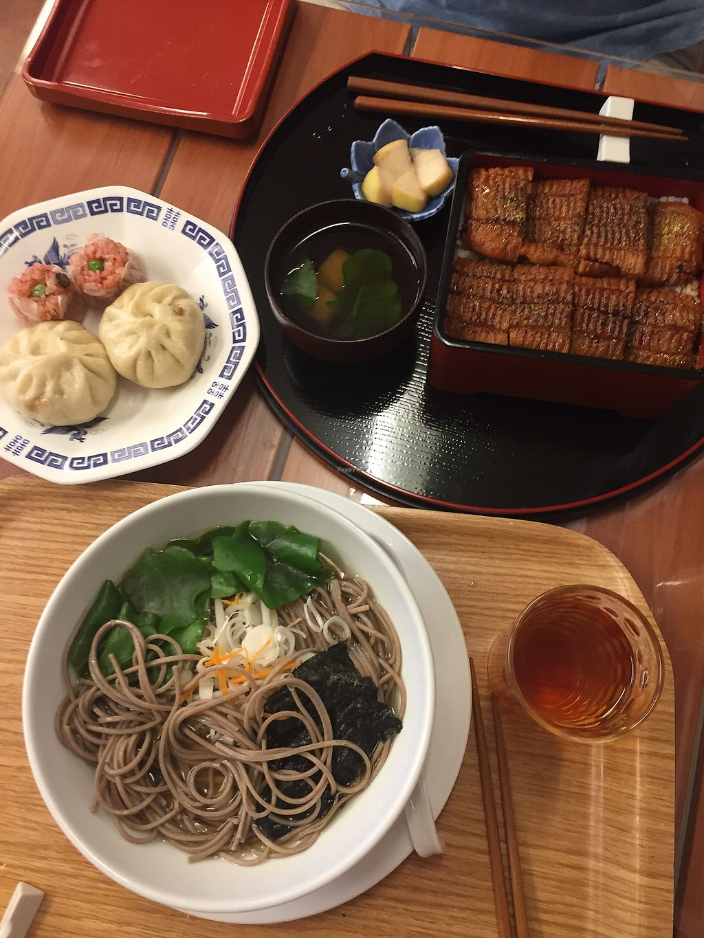 "Photo of Loving Hut  by <a href=""/members/profile/Sophiel"">Sophiel</a> <br/>Soba, pork buns & eel set <br/> July 20, 2017  - <a href='/contact/abuse/image/15591/282375'>Report</a>"