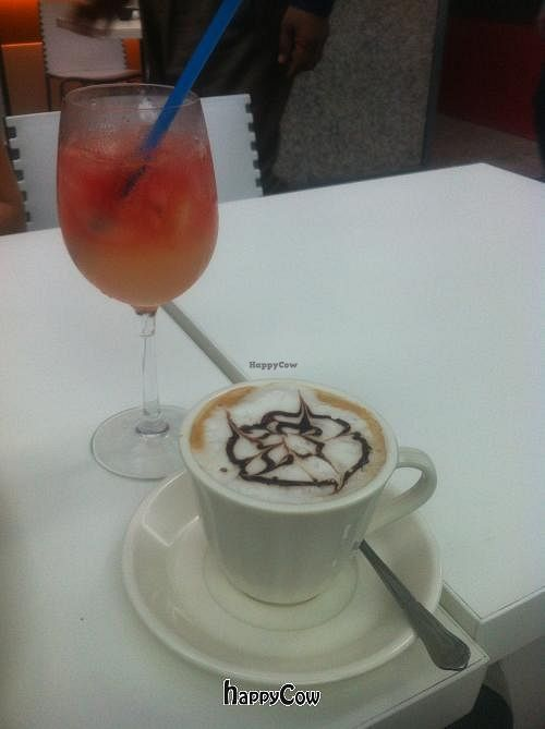 """Photo of CLOSED: Loving Hut - Suntec City Mall  by <a href=""""/members/profile/Nikki1801"""">Nikki1801</a> <br/>rose water and coffee <br/> January 16, 2013  - <a href='/contact/abuse/image/15604/43013'>Report</a>"""
