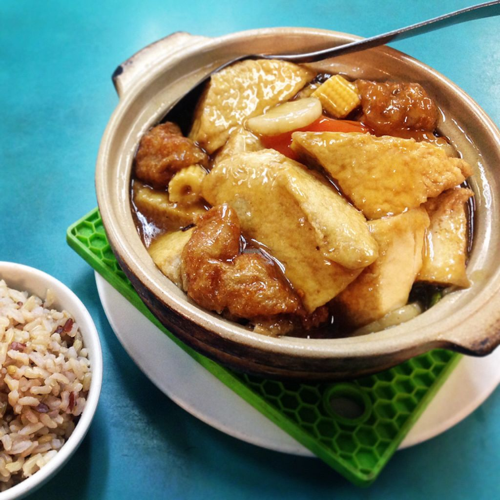 """Photo of Lucky Creation Vegetarian  by <a href=""""/members/profile/plantbased.redhead"""">plantbased.redhead</a> <br/>Claypot with brown rice <br/> January 3, 2017  - <a href='/contact/abuse/image/1563/207752'>Report</a>"""