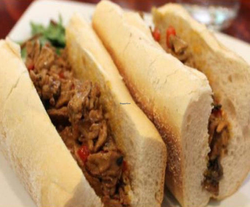 "Photo of Mi Lah Vegetarian  by <a href=""/members/profile/quarrygirl"">quarrygirl</a> <br/>Mi Lah Cheesesteak with sauteed mushrooms and peppers by JL goes vegan <br/> December 26, 2011  - <a href='/contact/abuse/image/15644/189929'>Report</a>"