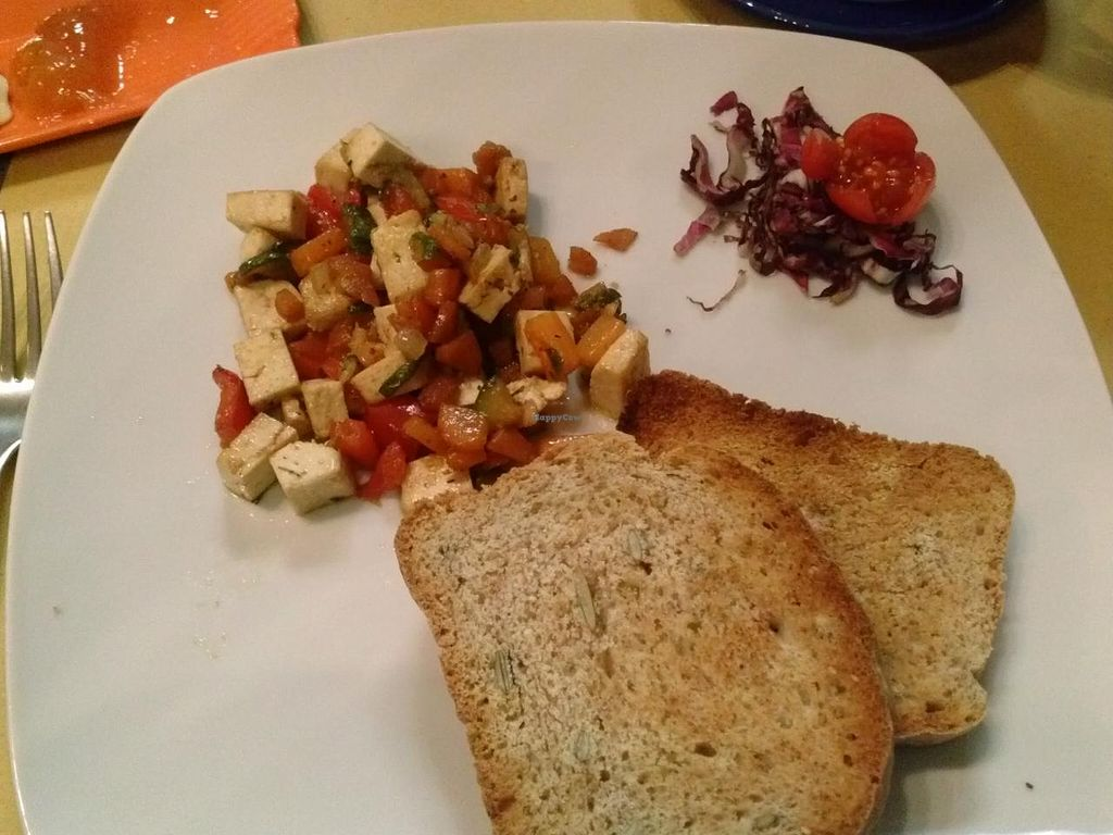 """Photo of The Beehive Hostel  by <a href=""""/members/profile/Sonja%20and%20Dirk"""">Sonja and Dirk</a> <br/>diced tofu with toast <br/> July 14, 2015  - <a href='/contact/abuse/image/15676/109286'>Report</a>"""
