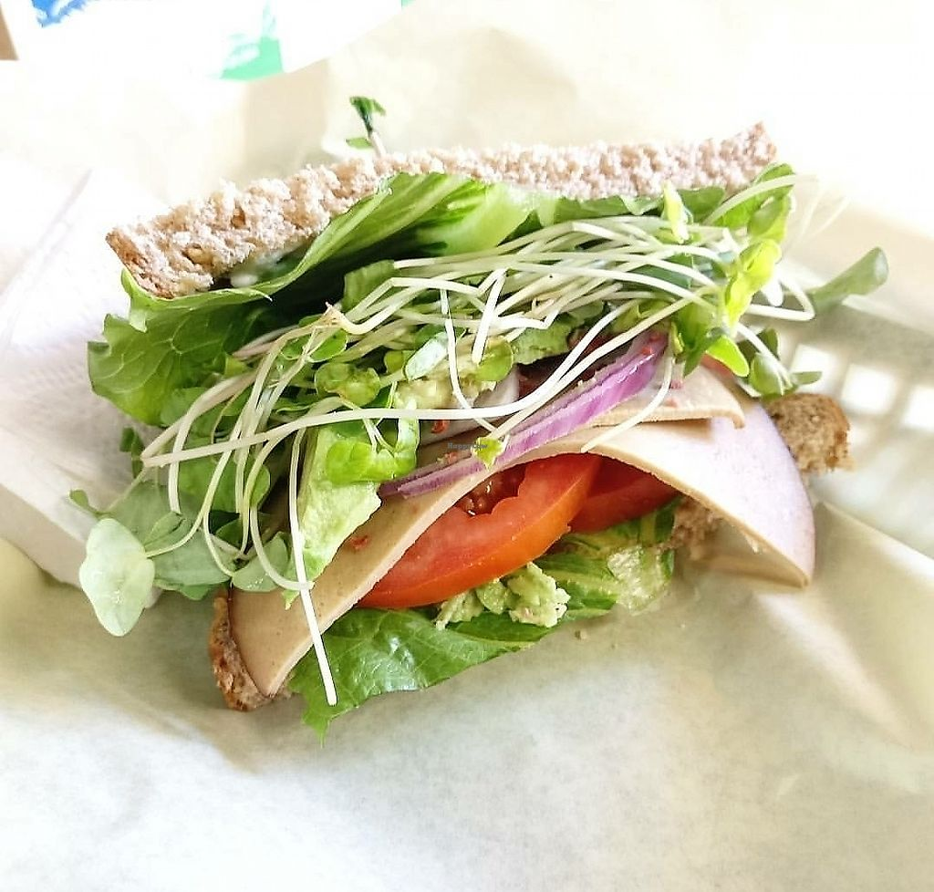 """Photo of Picasso Naturals  by <a href=""""/members/profile/KellyBone"""">KellyBone</a> <br/>Soy Veggie Sandwich  <br/> October 15, 2017  - <a href='/contact/abuse/image/15771/315533'>Report</a>"""