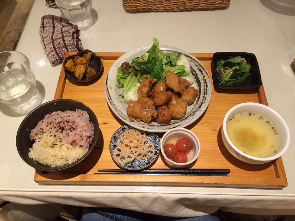 """Photo of Mumokuteki Cafe and Foods  by <a href=""""/members/profile/Meirella"""">Meirella</a> <br/>Vegan version of a set. Super tasty!  <br/> June 4, 2017  - <a href='/contact/abuse/image/15812/265724'>Report</a>"""