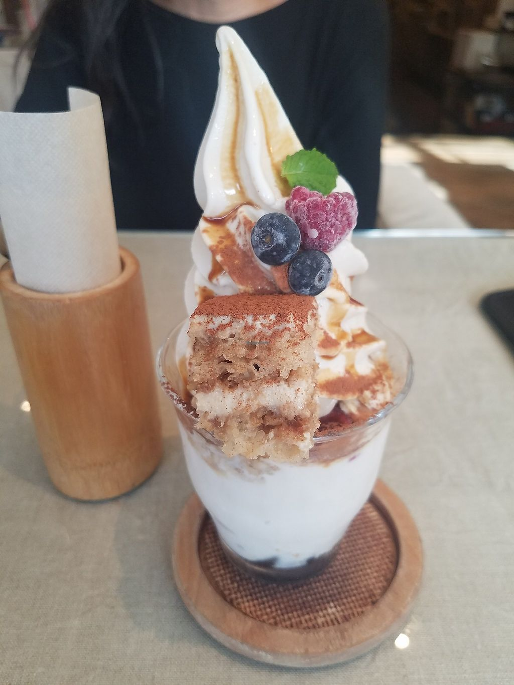 """Photo of Mumokuteki Cafe and Foods  by <a href=""""/members/profile/ReiAmber"""">ReiAmber</a> <br/>tiramisu parfait <br/> May 8, 2018  - <a href='/contact/abuse/image/15812/396996'>Report</a>"""