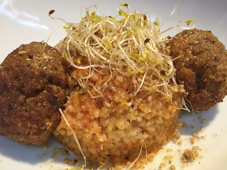 "Photo of B12  by <a href=""/members/profile/DonnaC"">DonnaC</a> <br/>tempeh balls and cous cous  <br/> October 20, 2017  - <a href='/contact/abuse/image/15834/317126'>Report</a>"