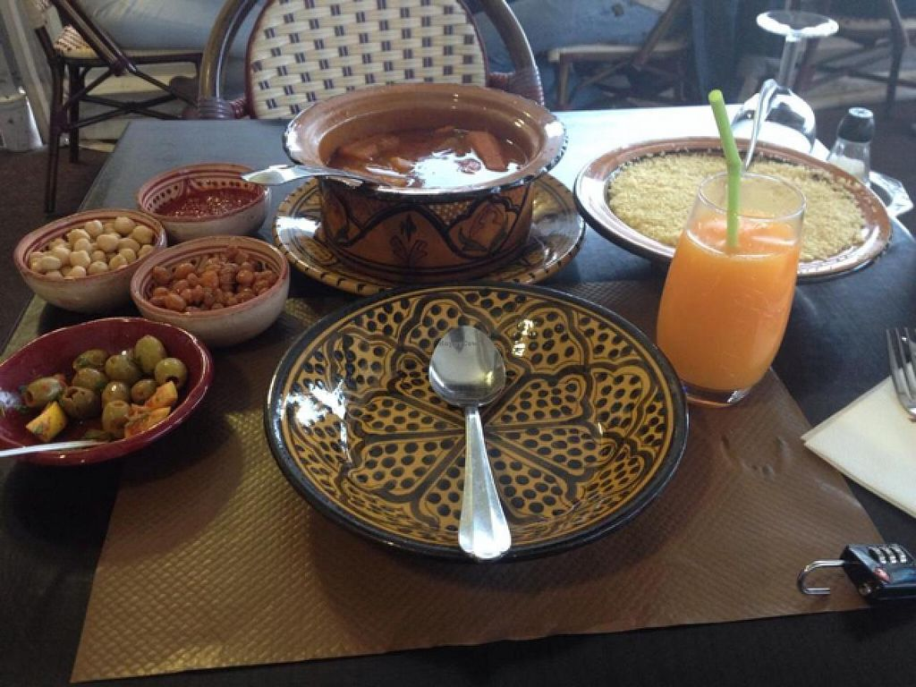 """Photo of Le Souk  by <a href=""""/members/profile/Veggiesteph"""">Veggiesteph</a> <br/>vegetarian couscous. Delicious <br/> June 10, 2015  - <a href='/contact/abuse/image/15853/105296'>Report</a>"""