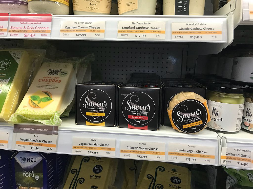 "Photo of Commonsense Organics - Kilbirnie  by <a href=""/members/profile/Paolla"">Paolla</a> <br/>Vegan cheese <br/> November 19, 2017  - <a href='/contact/abuse/image/15866/327225'>Report</a>"